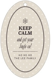 Iconic Christmas large oval hang tags