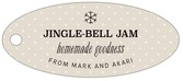 Iconic Christmas oval hang tags