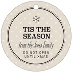 Iconic Christmas circle hang tags
