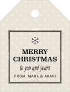Iconic Christmas small luggage tags