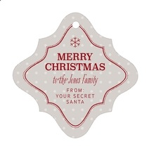 Iconic Christmas fancy diamond hang tags