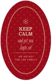 Iconic Christmas tall oval labels