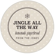 Iconic Christmas large circle labels
