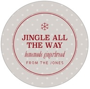 Iconic Christmas Large Circle Label In Stone