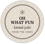 Iconic Christmas circle labels