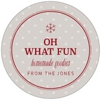 Iconic Christmas Circle Label In Stone
