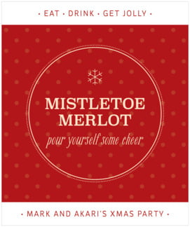 Iconic Christmas large labels