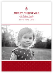 Iconic Christmas photo cards - vertical