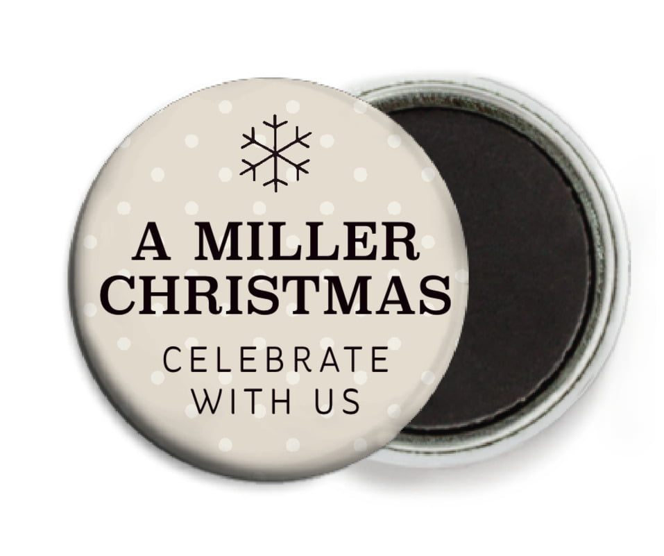 custom button magnets - champagne - iconic christmas (set of 6)