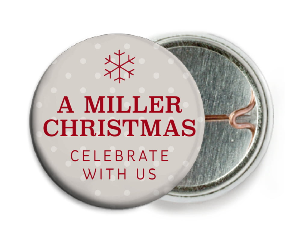 custom pin back buttons - stone - iconic christmas (set of 6)
