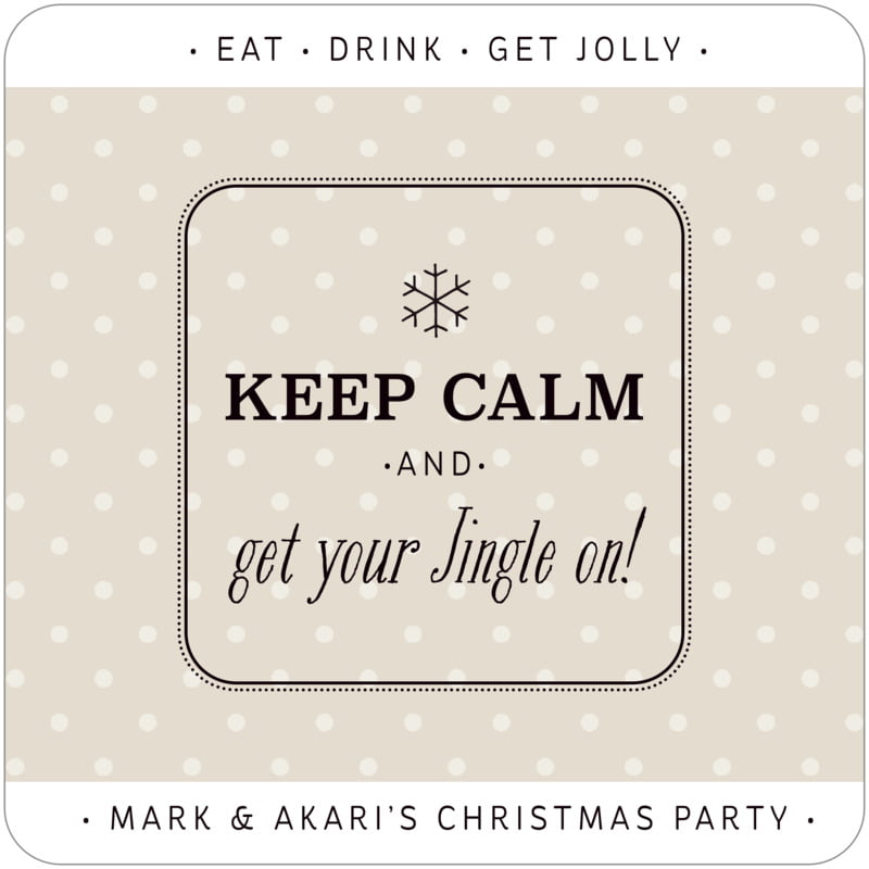 square holiday coasters - champagne - iconic christmas (set of 12)