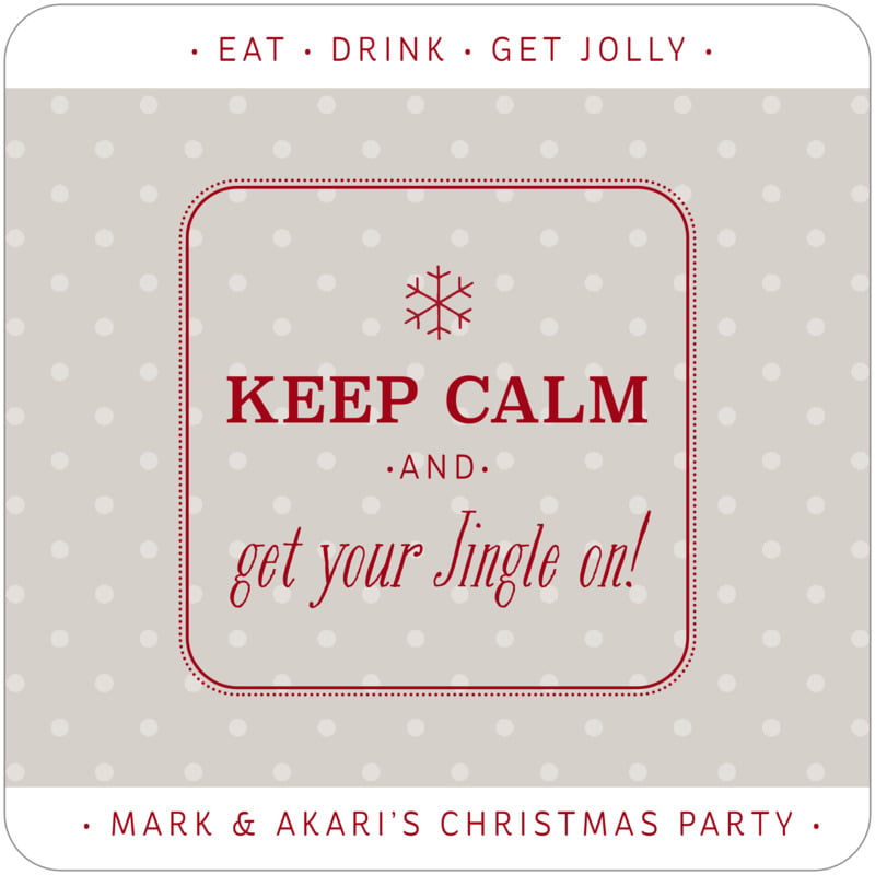 square holiday coasters - stone - iconic christmas (set of 12)