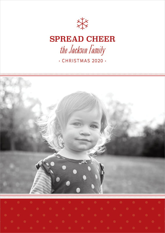 holiday cards - deep red - iconic christmas (set of 10)