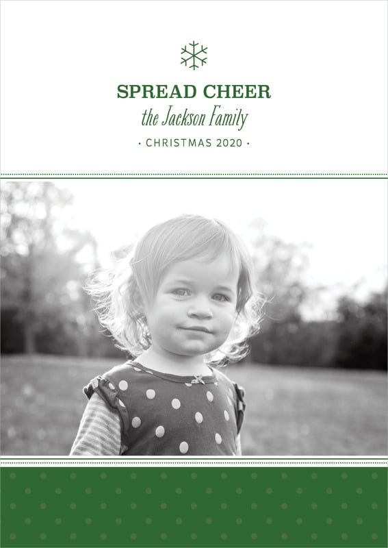 holiday cards - deep green - iconic christmas (set of 10)