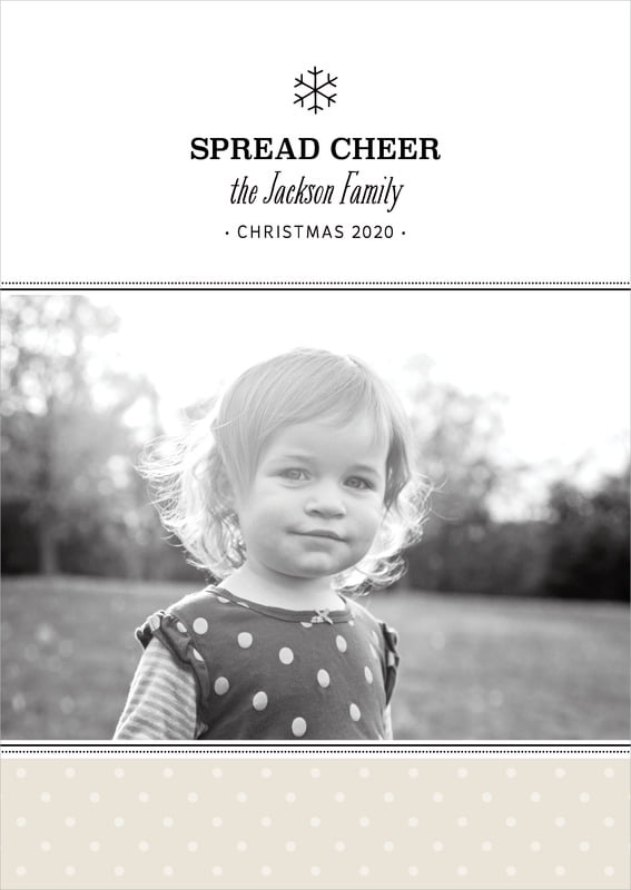 holiday cards - champagne - iconic christmas (set of 10)