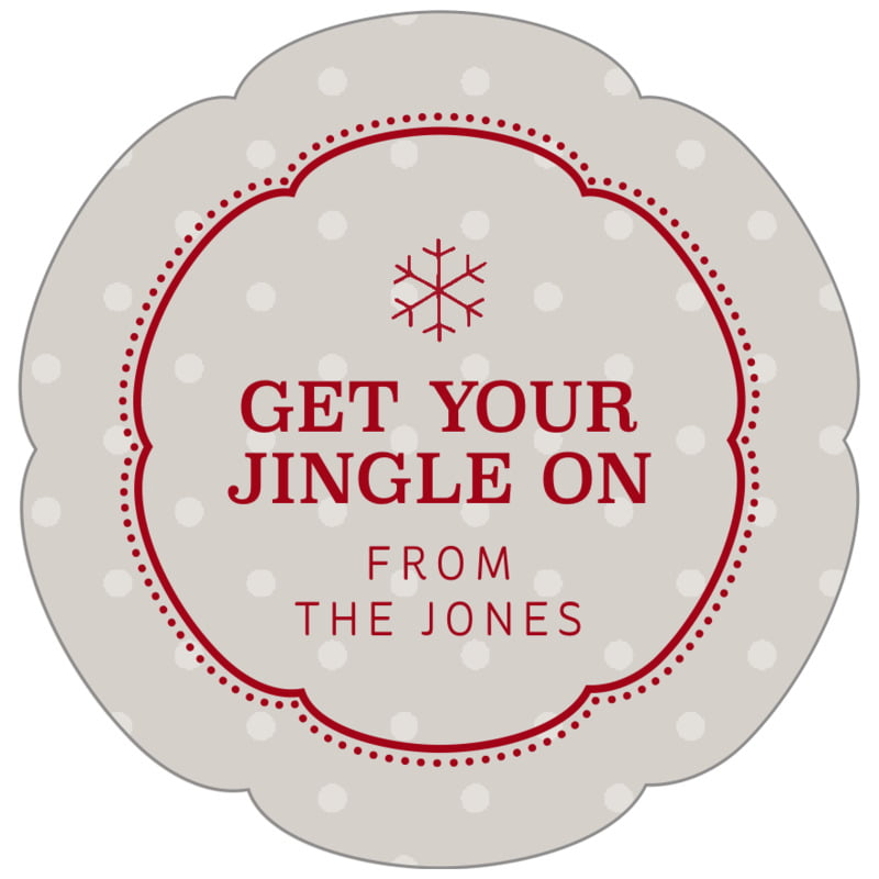 petal food/craft labels - stone - iconic christmas (set of 30)