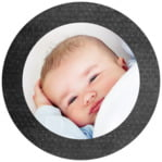 Simple Edge circle photo labels