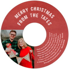 Simple Edge holiday CD/DVD labels