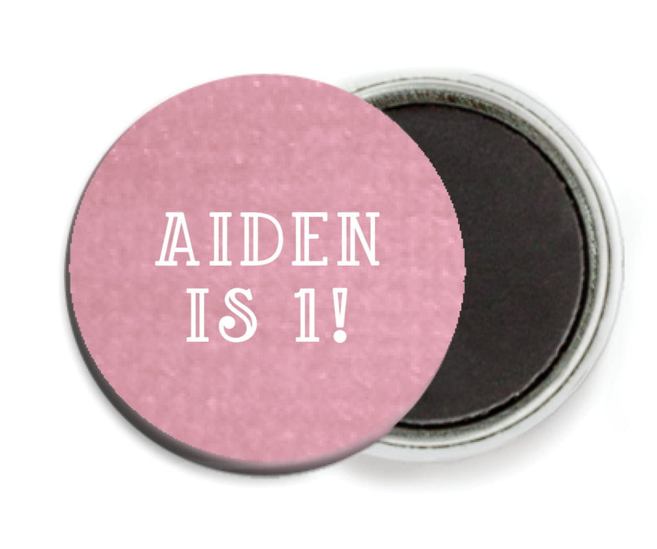 custom button magnets - pale pink - simple edge (set of 6)