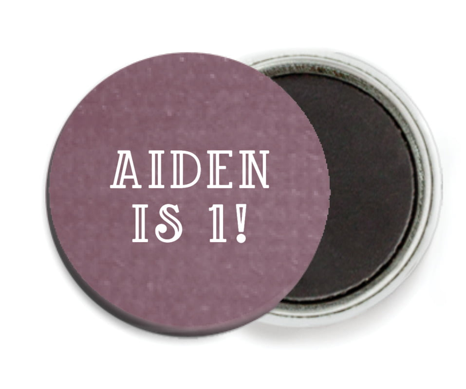 custom button magnets - wine - simple edge (set of 6)