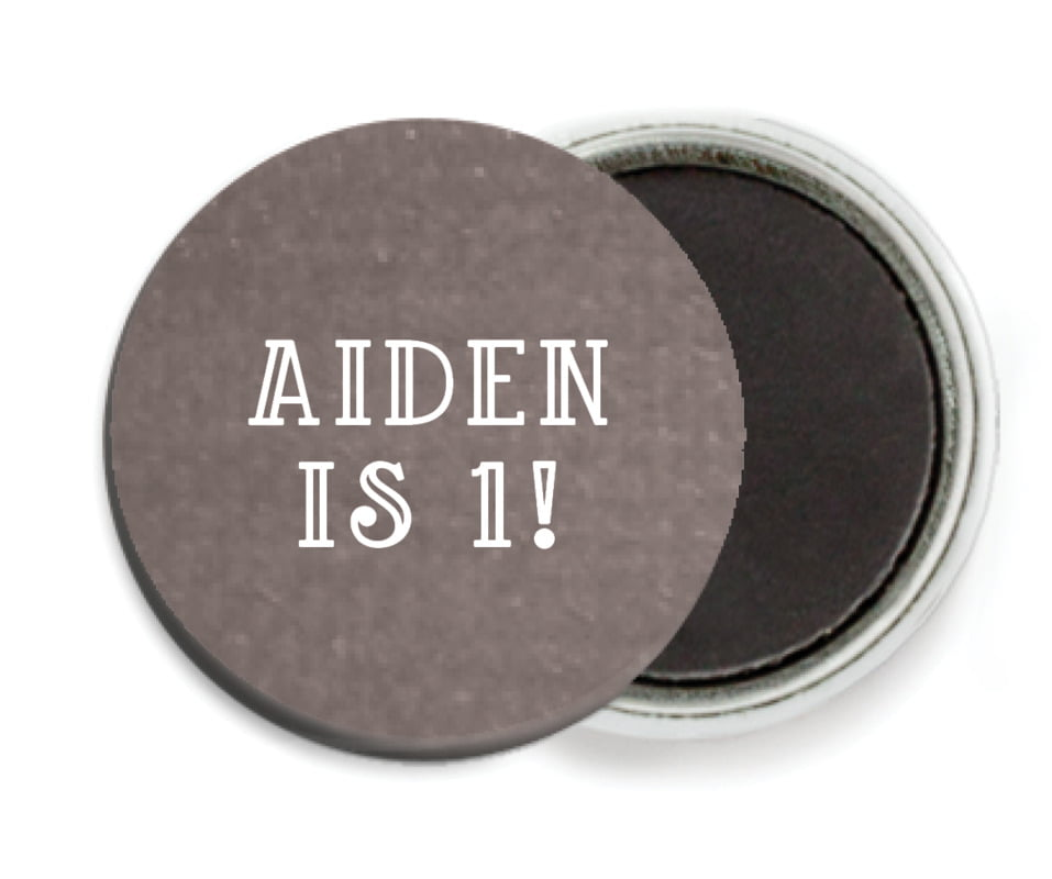 custom button magnets - saddle brown - simple edge (set of 6)
