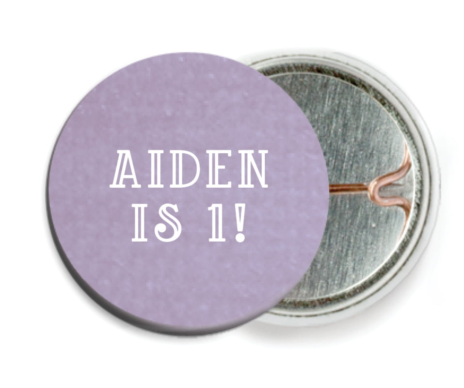 custom pin back buttons - lilac - simple edge (set of 6)