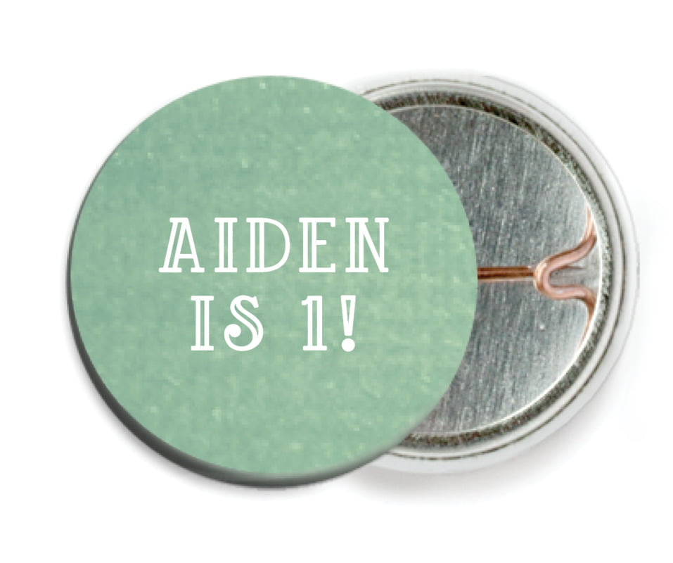 custom pin back buttons - mint - simple edge (set of 6)