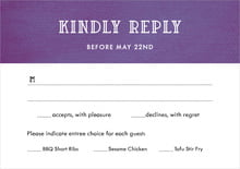 custom response cards - plum - simple edge (set of 10)