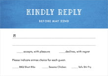 custom response cards - cobalt - simple edge (set of 10)