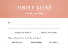 custom response cards - peach - simple edge (set of 10)