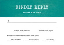 custom response cards - turquoise - simple edge (set of 10)