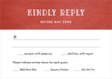 custom response cards - deep red - simple edge (set of 10)
