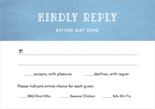custom response cards - blue - simple edge (set of 10)