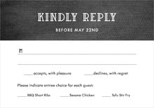 custom response cards - tuxedo - simple edge (set of 10)