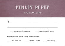 custom response cards - wine - simple edge (set of 10)