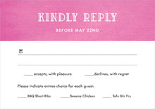 custom response cards - bright pink - simple edge (set of 10)