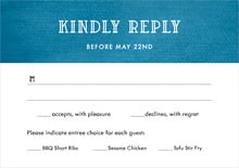 custom response cards - bahama blue - simple edge (set of 10)