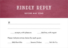 custom response cards - burgundy - simple edge (set of 10)