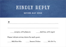 custom response cards - deep blue - simple edge (set of 10)