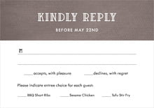 custom response cards - saddle brown - simple edge (set of 10)