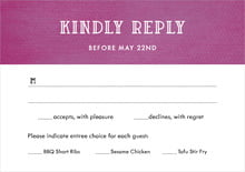 custom response cards - radiant orchid - simple edge (set of 10)