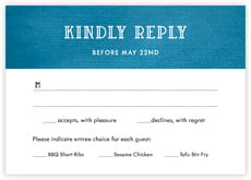 Simple Edge Response Card In Bahama Blue