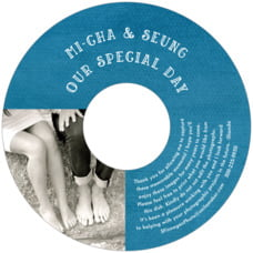 Simple Edge Cd Label In Bahama Blue