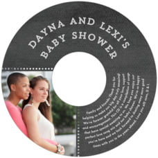 Film Edge baby shower CD/DVD labels