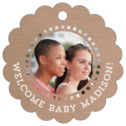 Film Edge scallop hang tags