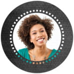 Film Edge Circle Photo Label In Tuxedo