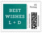 Film Edge Small Postage Stamp In Turquoise