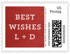 Film Edge Small Postage Stamp In Deep Red
