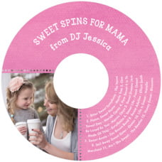 Film Edge Cd Label In Bright Pink