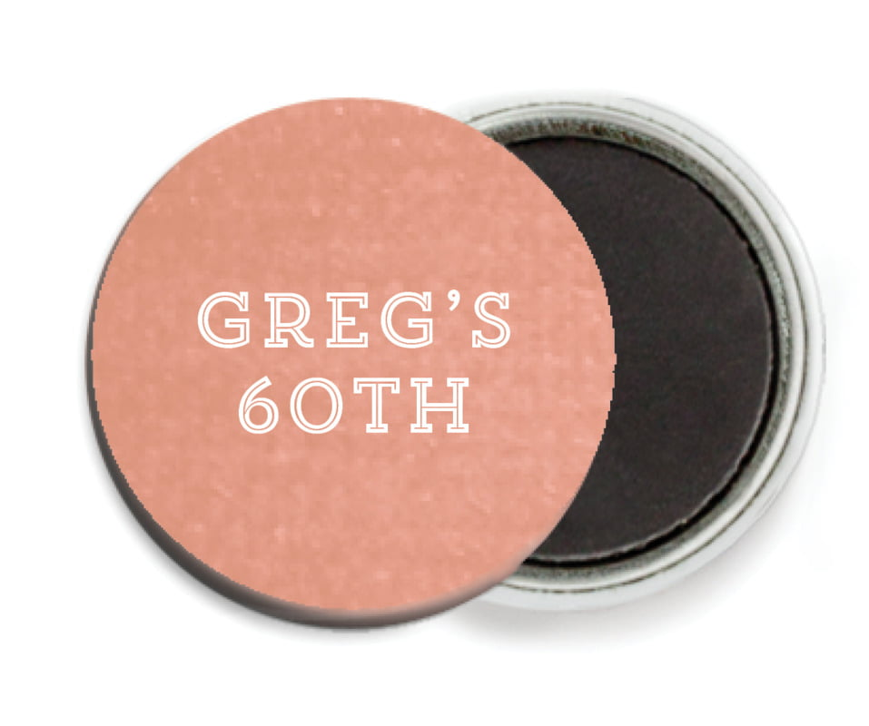 custom button magnets - peach - film edge (set of 6)